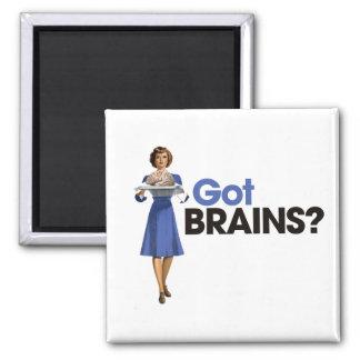 Got Brains Square Magnet