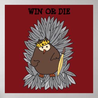GoT Brute Hoot Owl King Print