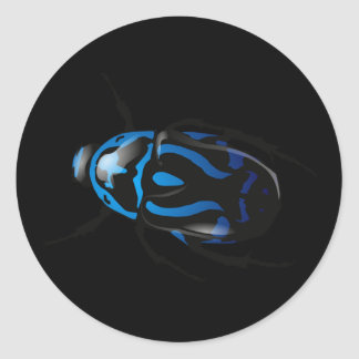 Got Bugs-Wild Colored Beetle Classic Round Sticker