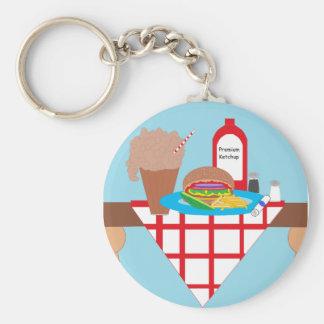 Got Burger? Basic Round Button Key Ring