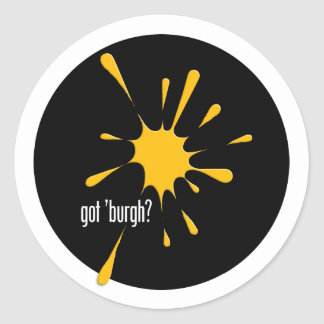 got 'burgh? round sticker