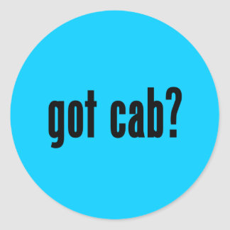 got cab? classic round sticker