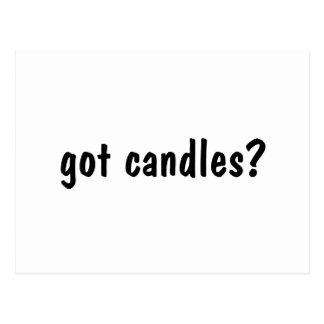 got candles? postcard