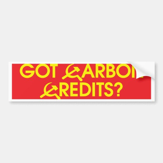 got_carbon_credits_bmprstkr bumper sticker