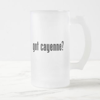 got cayenne? frosted beer mugs