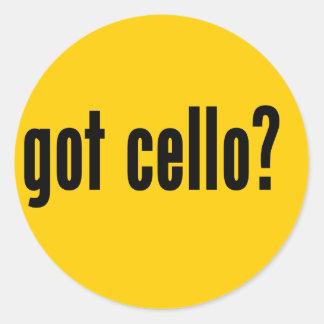 got cello? classic round sticker