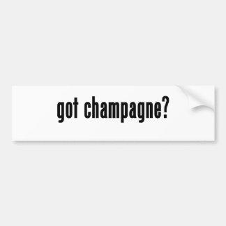 got champagne? car bumper sticker