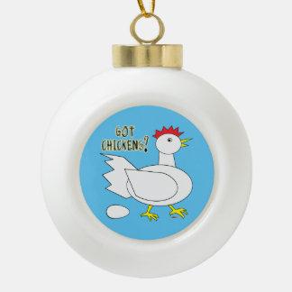Got Chickens? Ceramic Ball Christmas Ornament
