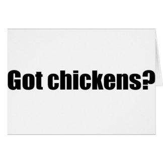 Got Chickens Greeting Card