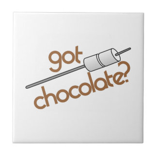 Got Chocolate? Small Square Tile