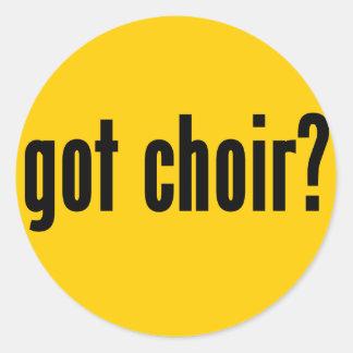 got choir? classic round sticker