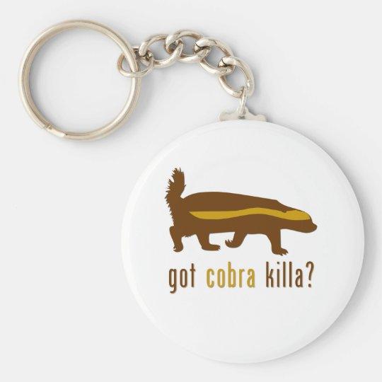 got cobra killa (honey badger) basic round button key ring