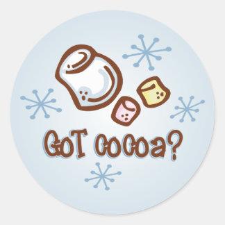 Got Cocoa Round Sticker