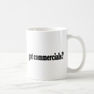 got commercials? basic white mug