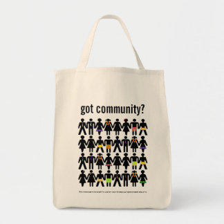 got community? grocery tote bag