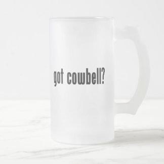 got cowbell? glass beer mug