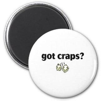 got craps 6 cm round magnet