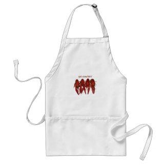 got crawfish? logo standard apron