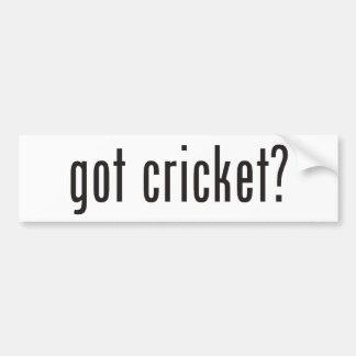 got cricket? bumper sticker