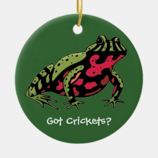 Got Crickets (Fire Belly Toad) Round Ceramic Decoration