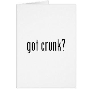 got crunk? greeting card