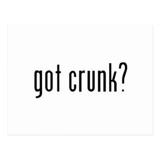 got crunk? postcard