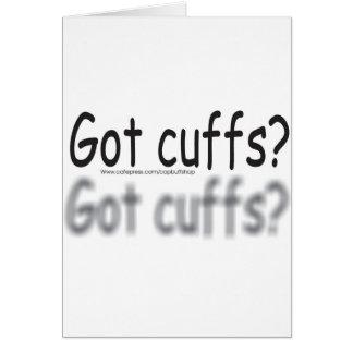 got cuffs? greeting card