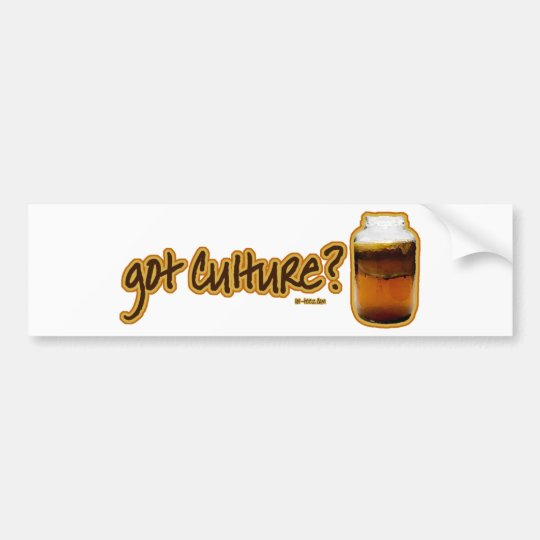 Got Culture? Kombucha Bumper Sticker