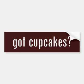 got cupcakes? bumper sticker