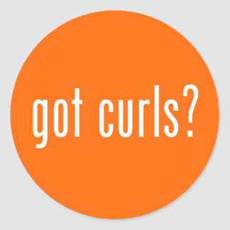 Got Curls? Round Sticker