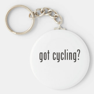 got cycling? basic round button key ring