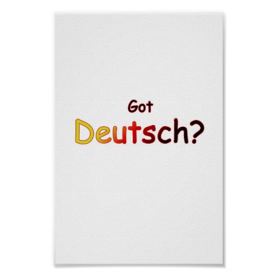 Got Deutsch Poster