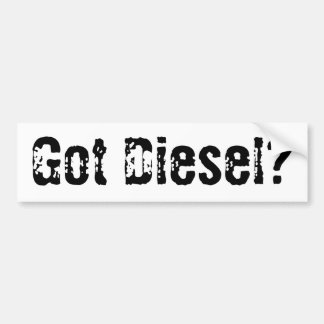 Got Diesel Bumper Sticker