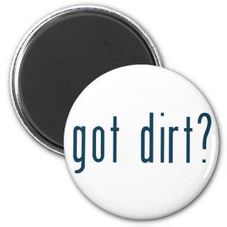 got dirt 6 cm round magnet