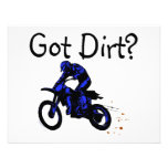 Got Dirt Motorcycle Personalised Invite