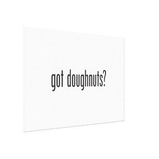 got doughnuts stretched canvas print