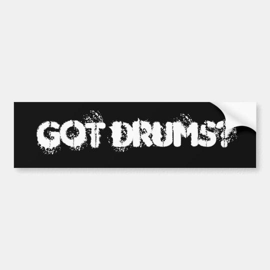got drums? bumper sticker