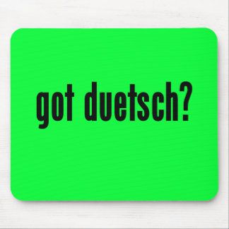got duetsch mouse pad
