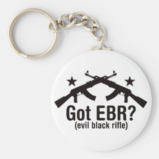 Got EBR? AK47 Basic Round Button Key Ring
