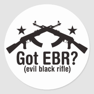 Got EBR? AK47 Round Sticker