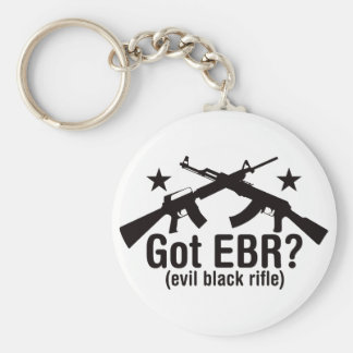 Got EBR? AR15 and AK47 Basic Round Button Key Ring