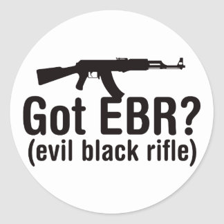 Got EBR? Basic AK47 Round Sticker