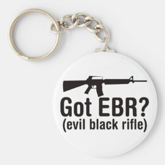 Got EBR? Basic AR15 Basic Round Button Key Ring
