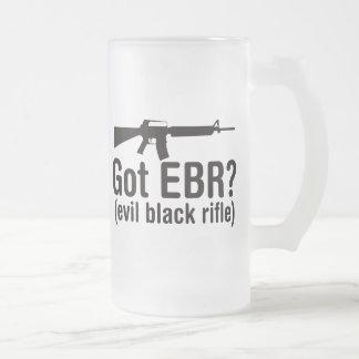 Got EBR? Basic AR15 Frosted Glass Mug