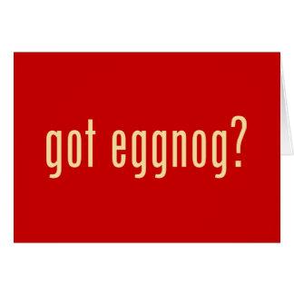got eggnog? greeting card