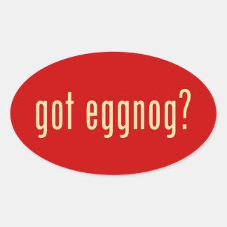 got eggnog? oval sticker