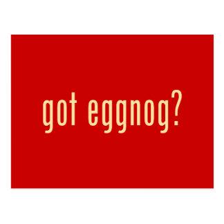 got eggnog? postcard