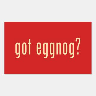 got eggnog? rectangular sticker