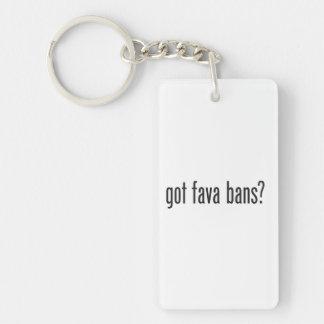 got fava bans rectangular acrylic keychains