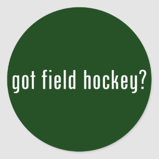 got field hockey? classic round sticker
